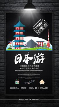 简约日本旅游海报