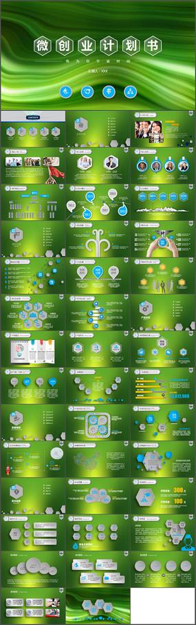 经典微创业计划书PPT模板