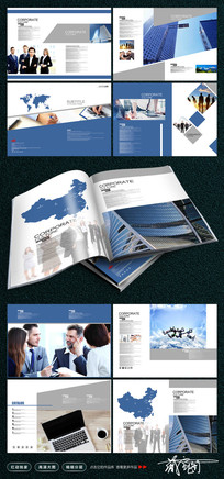 现代企业品牌画册模板设计