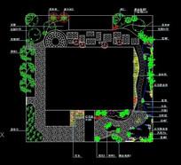 别墅庭院景观绿化设计平面图 dwg