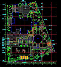 豪华别墅花园施工设计
