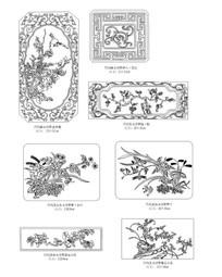 花木动物CAD雕花图块