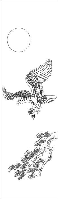 老鹰雕刻图案