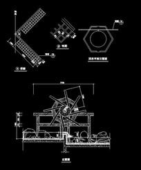 流水风车雕塑小品CAD dwg