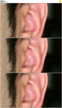 男人耳朵特写实拍视频素材
