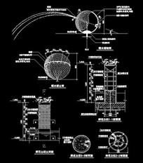 喷水球小品CAD dwg