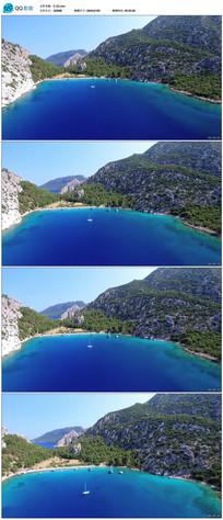 实拍蓝色湖面视频素材