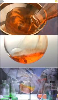 实验室混合溶液实拍视频素材
