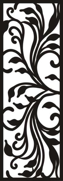 黑白花纹雕刻图案