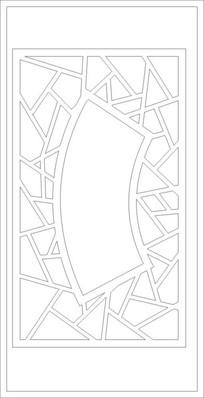 扇形雕刻图案