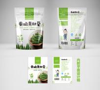 休闲零食秋葵脆片包装袋设计