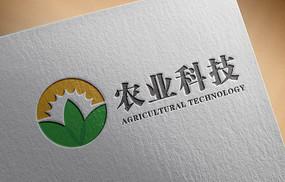 阳光绿叶大地农业科技logo