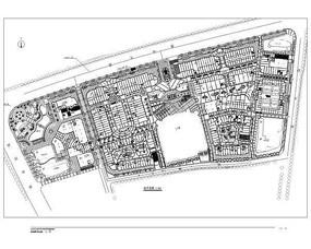 长方形广场CAD总平面