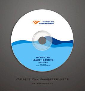 简约时尚蓝色光盘贴设计 CDR