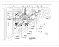 三角形街头公园CAD索引图 CAD