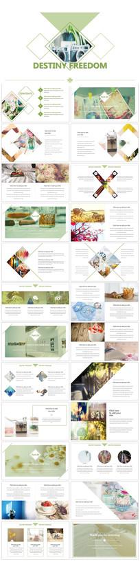 小清新企业宣传画册PPT模板