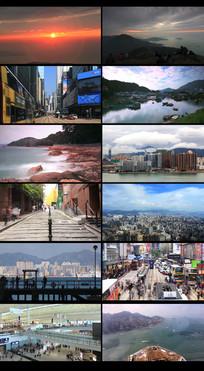 延时早晨城市摄影视频