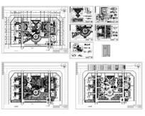 园林广场施工详图 CAD