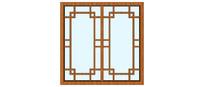 传统中式园林窗户
