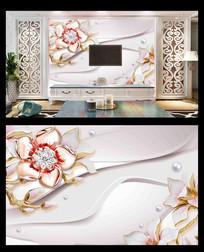 浮雕电视背景墙
