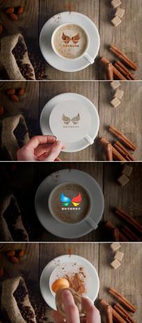 咖啡标志文字造型片头模板