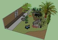 庭院小景观SU模型