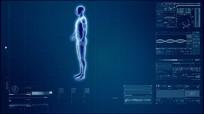 现代科技人体科学研究医学扫描视频