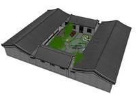 中式四合院建筑SU模型