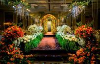 橙色系花园婚礼《橙心》