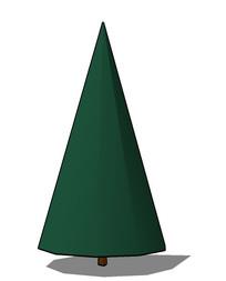 大塔型树简易su模型