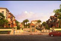 高档住宅区景观渲染效果图