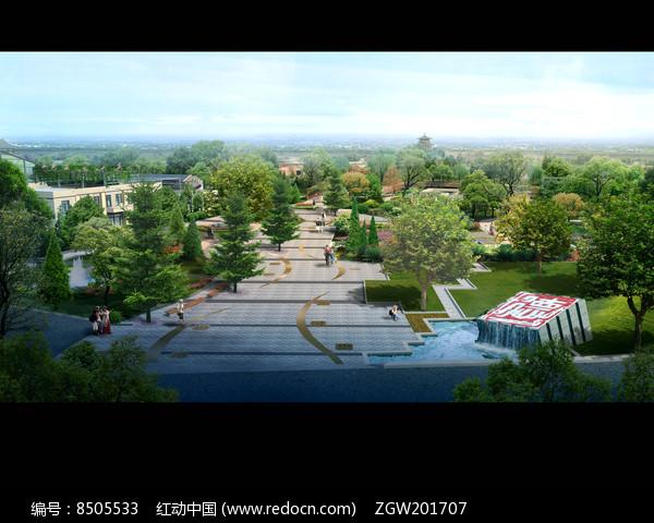 公园景观效果图设计图片