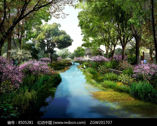 美丽城市公园效果图图片