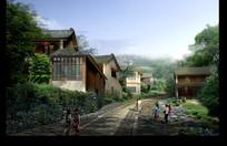农家乐旅游项目效果图 JPG