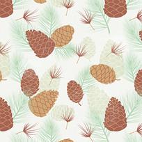 秋季菠萝印花连衣裙图案素材