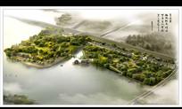 诗情画意的水边公园景观效果图 JPG