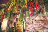 油画风复古花园婚礼