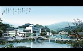 中国风城市建设效果图