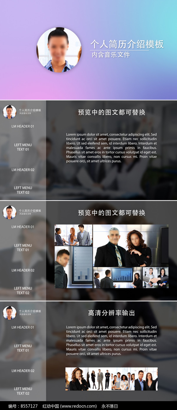 ae求职简历介绍模板图片