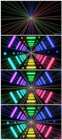 炫酷霓虹灯隧道LED视频素材