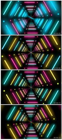 炫酷霓虹灯隧道视频素材