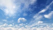 清新阳光蓝天白云高清视频素材