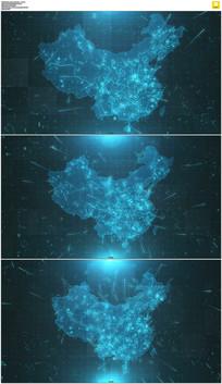 4K科技中国地图视频