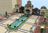 别墅住宅区su模型