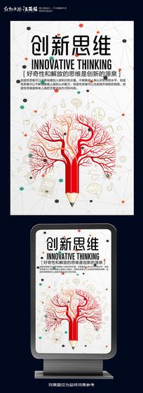 创新思维企业文化海报设计