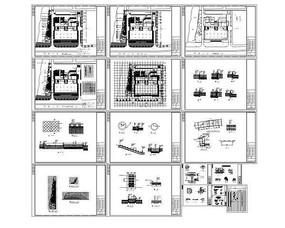 大厦广场全套园林施工图纸