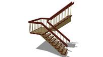 多跑楼梯模型 skp