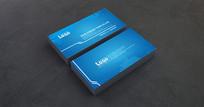 高端设计蓝色企业名片