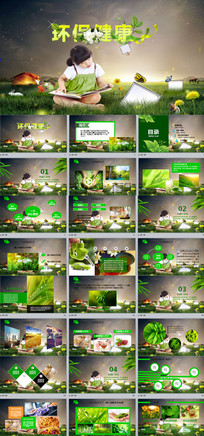 环保健康公益生态文明PPT
