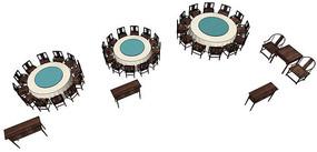 聚会餐厅桌椅